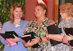 Mary Youger, RN, learns she is the 2014 Cameos of Caring Award winner at Monongahela Valley Hospital photo
