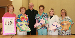 Volunteers Make Dignity Robes for MVH Cancer Patients photo