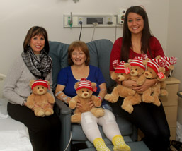 Monongahela Valley Hospital's Orthopedic Institute Coordinator Lorraine Damich, RN, BSN, CPAN, and donation coordinator Brittany Fagioletti, deliver bears photo